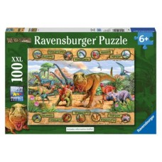 100 pc Ravensburger - Dinosaurs Puzzle XXL Pieces