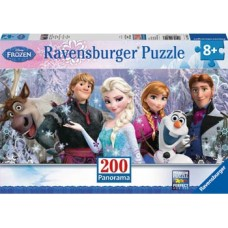 200 pc Ravensburger - Disney Frozen Friends Puzzle Panorama