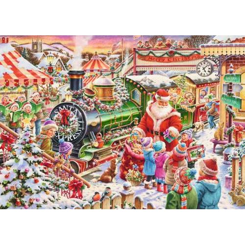 500 pc ravensburger disney christmas train puzzle - Disney Christmas Train
