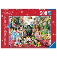 500 pc Ravensburger  - Disney Christmas Train Puzzle