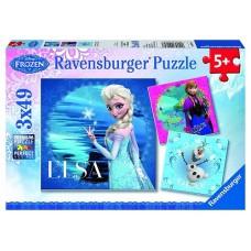 49 pc Ravensburger - Disney Frozen Elsa Puzzle 3x49 pc
