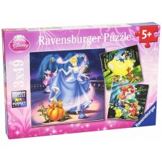 49 pc Ravensburger - Disney Princesses Puzzle 3x49pce