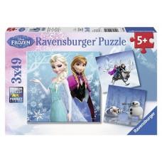 49 pc Ravensburger - Disney Frozen Winter Adventures Puzzle 3x49 pc