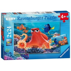 24 pc Ravensburger - Finding Dory Puzzle 2x24pce
