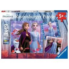 49 pc Ravensburger - Frozen 2 The Journey Starts  3x49 pce