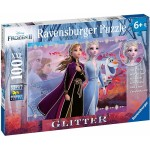 100 pc Ravensburger - Frozen 2 Strong Sisters Glitter Puzzle XXL Pieces