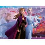 100 pc Ravensburger - Frozen 2 Strong Sisters Glitter Puzzle XXL Pieces