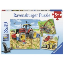 49 pc Ravensburger - Giant Vehicles 3x49 pc