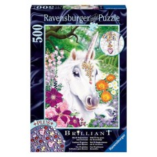 500 pc Ravensburger - Gorgeous Unicorn Jewel Puzzle