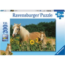 200 pc Ravensburger - Happy Horses Puzzle XXL