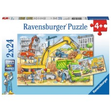 24 pc Ravensburger - Hard at Work Puzzle 2x24pc