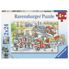 24 pc Ravensburger Puzzle - Heros in Action 2x24pc