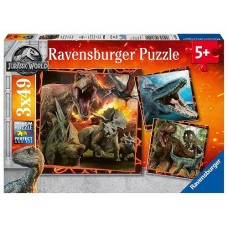 49 pc Ravensburger Puzzle - Jurassic World 3x49pc