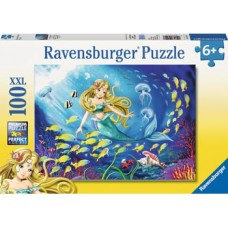 100 pc Ravensburger - Little Mermaids XXL Pieces