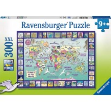 300 pc Ravensburger - Looking at the World Puzzle XXL Pieces
