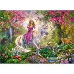 100 pc Ravensburger Puzzle - Magic Ride - Unicorn  XXL Pieces