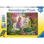 100 pc Ravensburger Puzzle - Magic Ride - Unicorn  XXL Pieces