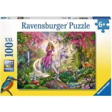100 pc Ravensburger - Magic Ride - Unicorn  Puzzle XXL Pieces