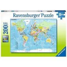 200 pc Ravensburger Puzzle - World Map  XXL