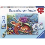 24 pc Ravensburger Puzzle - Mermaid Adventures 2x24pc