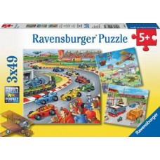 49 pc Ravensburger - Moving Vehicles 3x49 pc