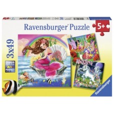 49 pc Ravensburger - Mythical Creatures Puzzle 3x49 pc