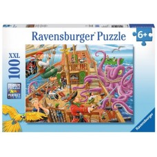 100 pc Ravensburger - Pirate Boat Adventure Puzzle XXL Pieces