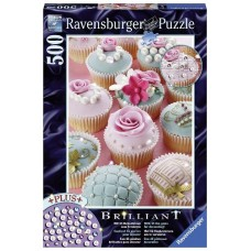 500 pc Ravensburger - Pearl Cupcakes Jewel Puzzle