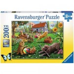 200 pc Ravensburger Puzzle - Playing in the Yard  XXL Pieces