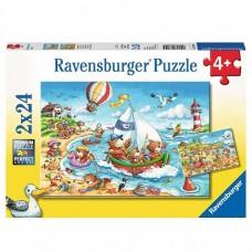 24 pc Ravensburger Puzzle - Seaside Holiday 2x24pc