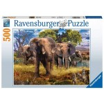 500 pc Ravensburger Puzzle - Elephant Family