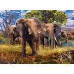 500 pc Ravensburger Puzzle - Elephant Family