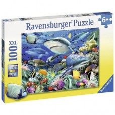 100 pc Ravensburger - Reef of Sharks Puzzle XXL Pieces