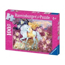 100 pc Ravensburger Puzzle - Glitter Riding in the Woods XXL Pieces