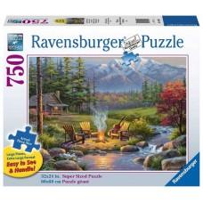 750 pc Ravensburger Puzzle - Riverside Livingroom - LARGE FORMAT