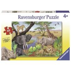 60 pc Ravensburger Puzzle - Safari Animals