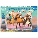100 pc Ravensburger - Spirit Lucky & Her Friends Puzzle - Spirit Riding Free