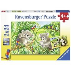 24 pc Ravensburger Puzzle - Sweet Koalas & Pandas 2x24pc
