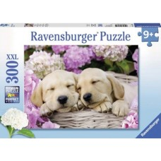 300 pc Ravensburger - Sweet Doggies in a Basket - XXL Pieces