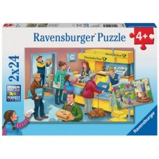 24 pc Ravensburger - The Busy Post Office 2x24pc