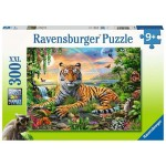300 pc Ravensburger Puzzle - Tiger at Sunset - XXL Pieces