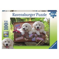 100 pc Ravensburger - Travelling Puppies Puzzle XXL Pieces