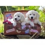 100 pc Ravensburger Puzzle - Travelling Puppies XXL Pieces