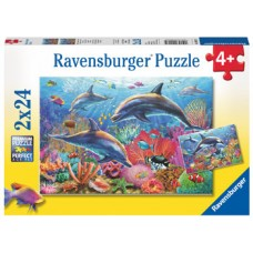 24 pc Ravensburger - Underwater World Puzzle 2x24pc