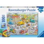 100 pc Ravensburger Puzzle - Vehicles in the City XXL Pieces