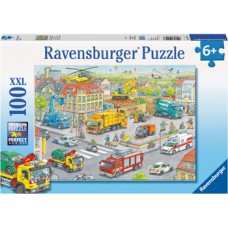 100 pc Ravensburger - Vehicles in the City Puzzle XXL Pieces