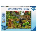 100 pc Ravensburger Puzzle - Wild Jungle Puzzle XXL Pieces