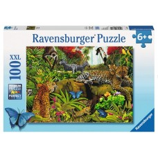 100 pc Ravensburger - Wild Jungle Puzzle XXL Pieces