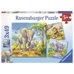 49 pc Ravensburger Puzzle - Wild Animals 3x49pc