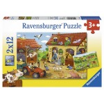 12 pc Ravensburger - Working on the Farm Puzzle  2x12 pc